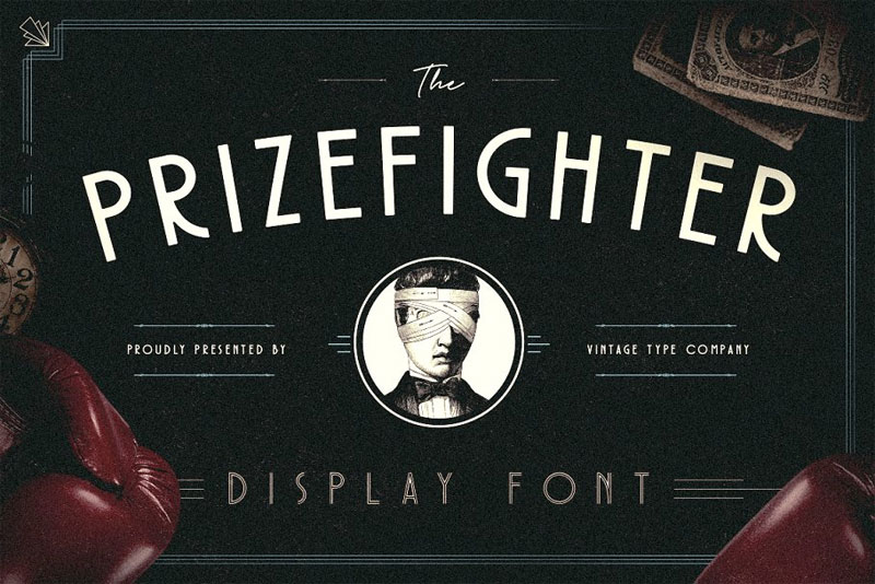 prizefighter display art deco font