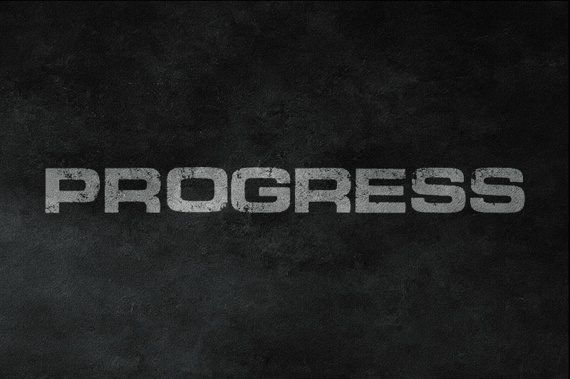 progress distressed font