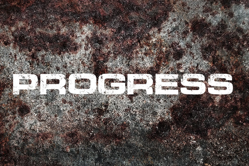 progress industrial font