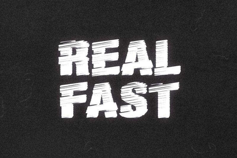 real fast distressed font