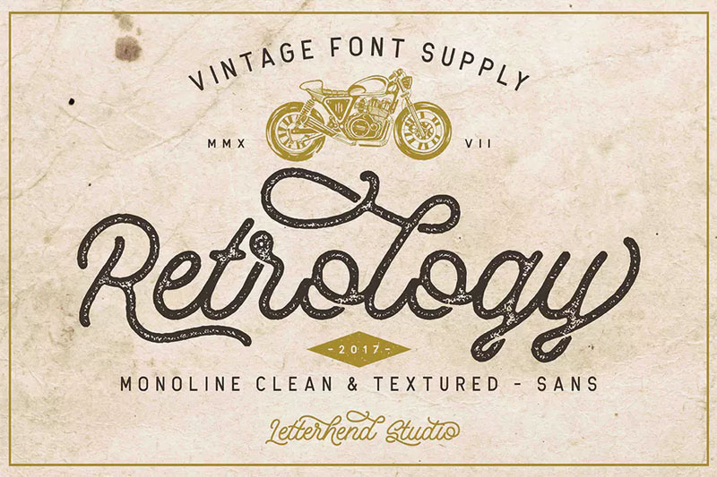retrology 70s font