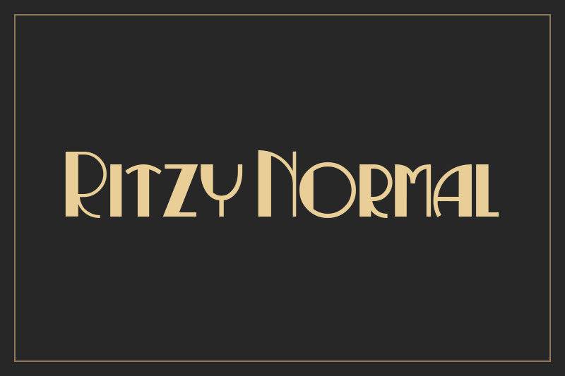 ritzy normal art deco font