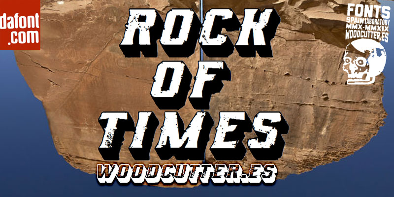 rock of times distressed font