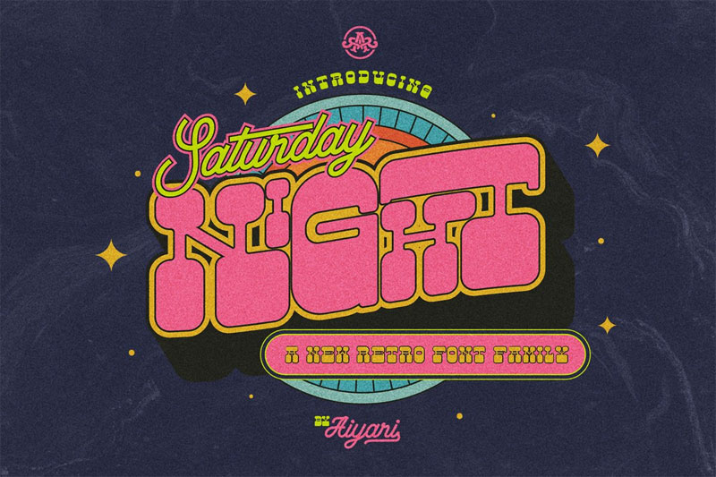 saturday night 70s font