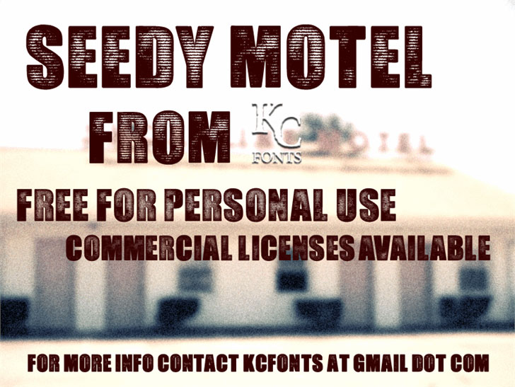 seedy motel distressed font