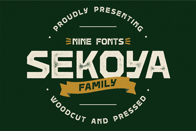 sekoya family distressed font