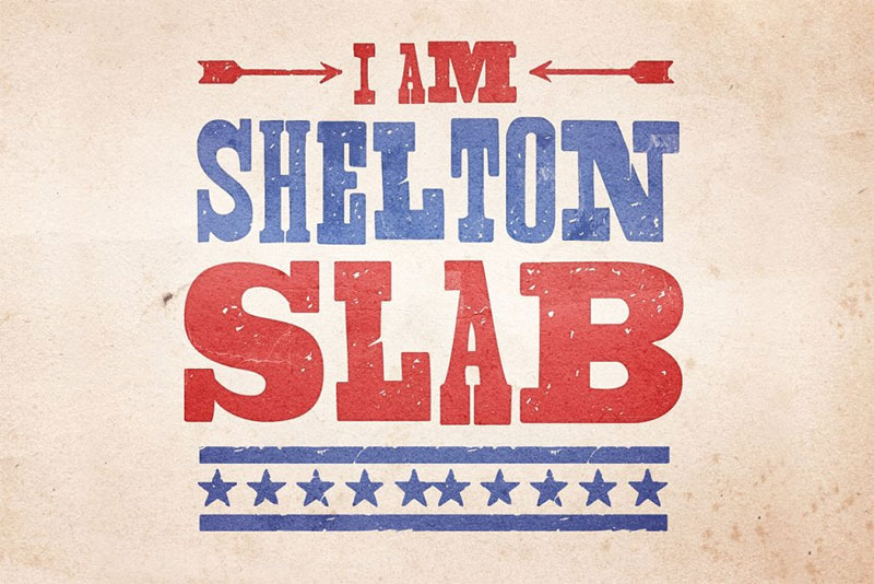 shelton slab industrial font