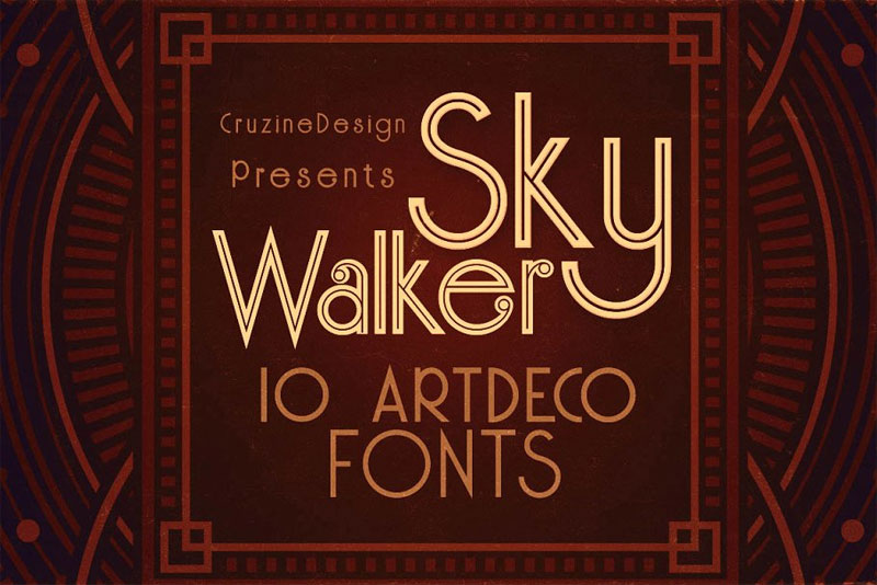 skywalker art deco font