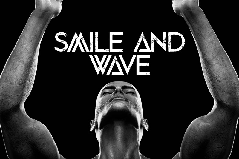 smile and wave distressed font