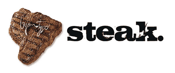 steak distressed font