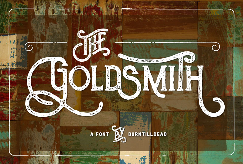the goldsmith vintage 70s font