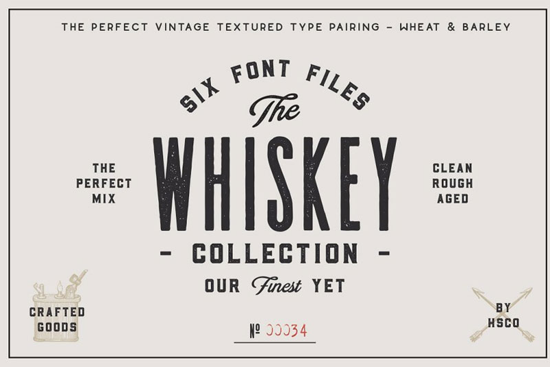 the whiskey distressed font