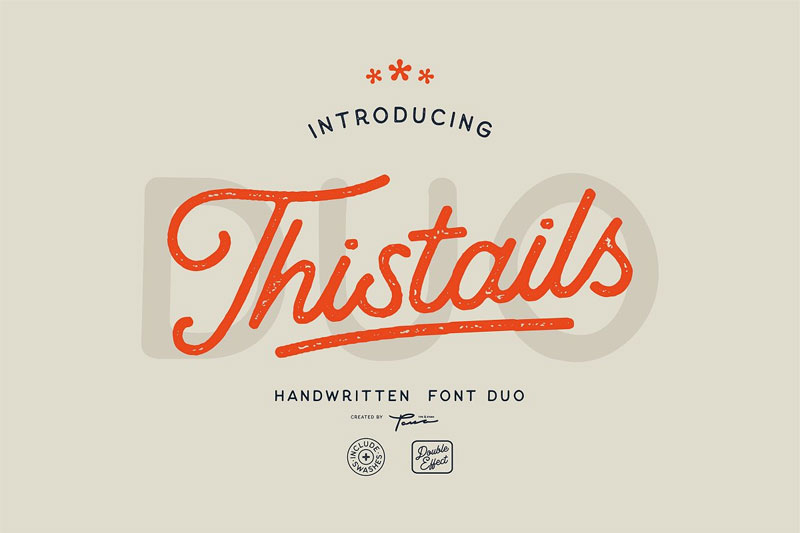 thistails baseball font