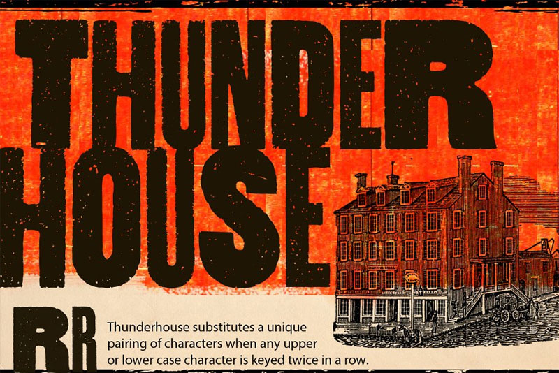 thunderhouse distressed font