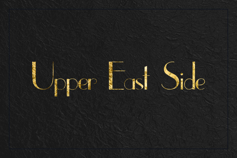 upper eastside art deco font
