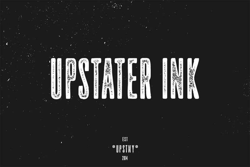 upstater ink distressed font