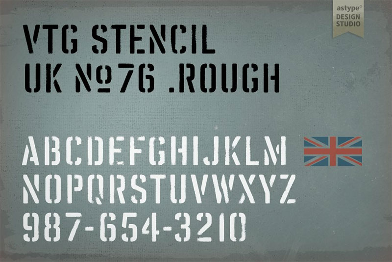 vtg stencil uk no. 76 industrial font