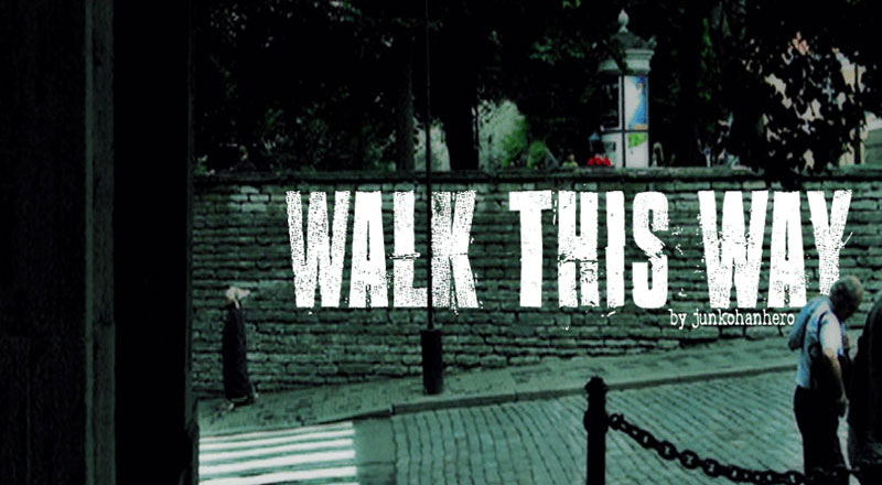 walk this way distressed font