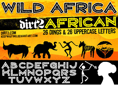 wild africa african font