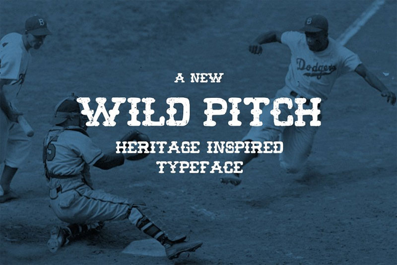 wild pitch baseball font
