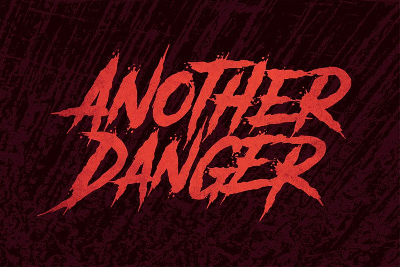 another danger creepy font