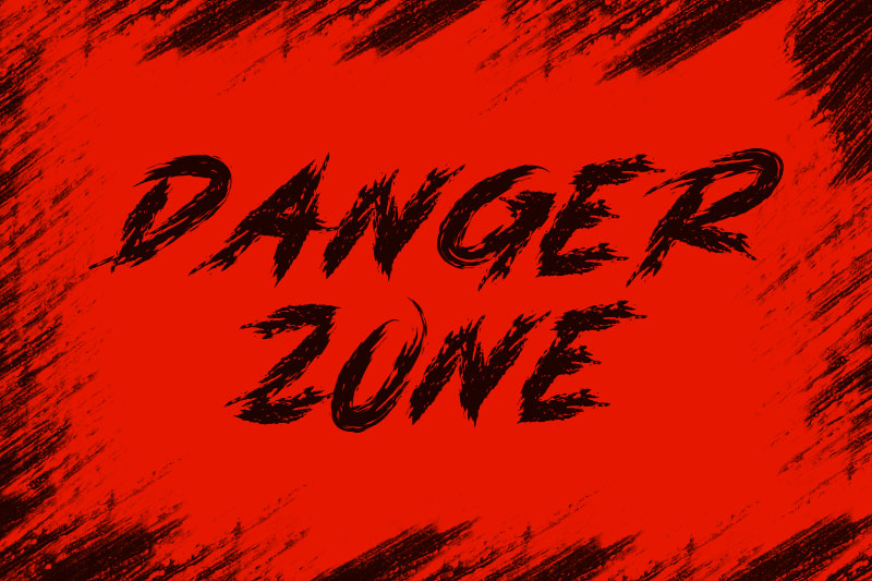 danger zone horror and scary font