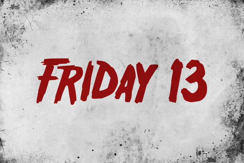 friday 13 horror and scary font