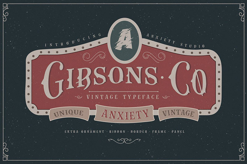 gibsons co royal font