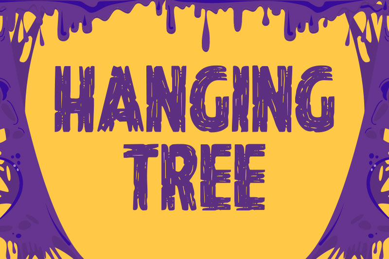 hanging tree horror and scary font