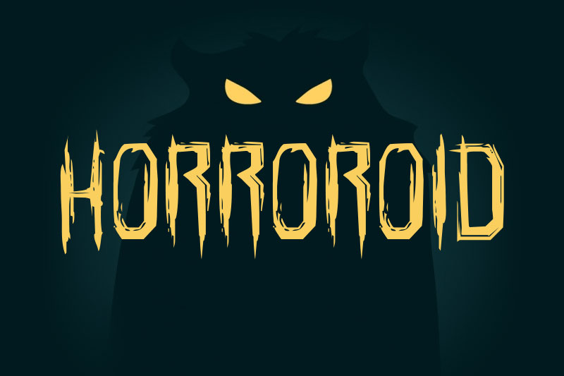 horroroid horror and scary font