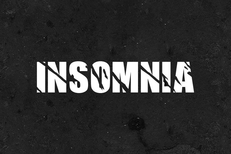 insomnia horror and scary font