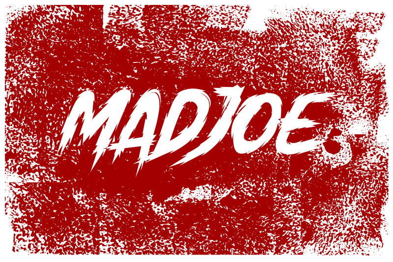madjoe horror and scary font