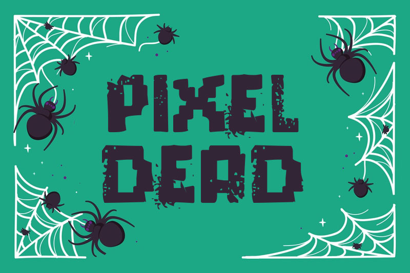 pixel dead horror and scary font