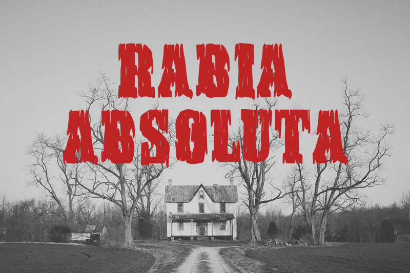 rabia absoluta horror and scary font