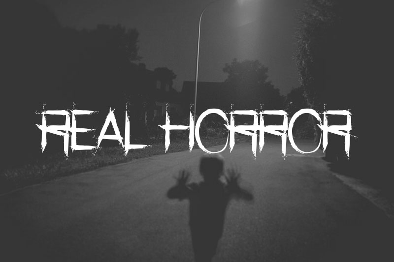 real horror horror and scary font