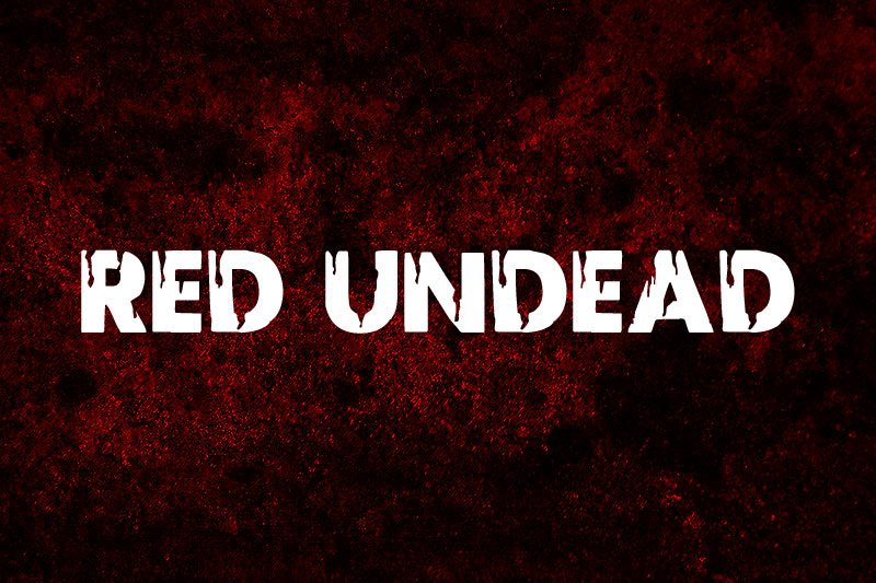red undead horror and scary font