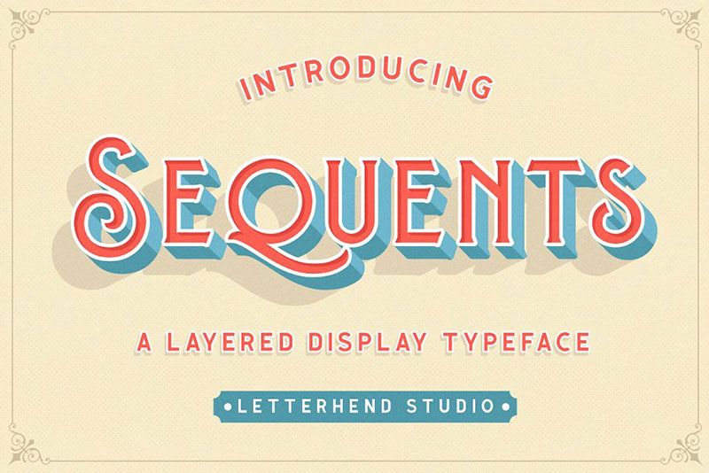 sequents layered royal font
