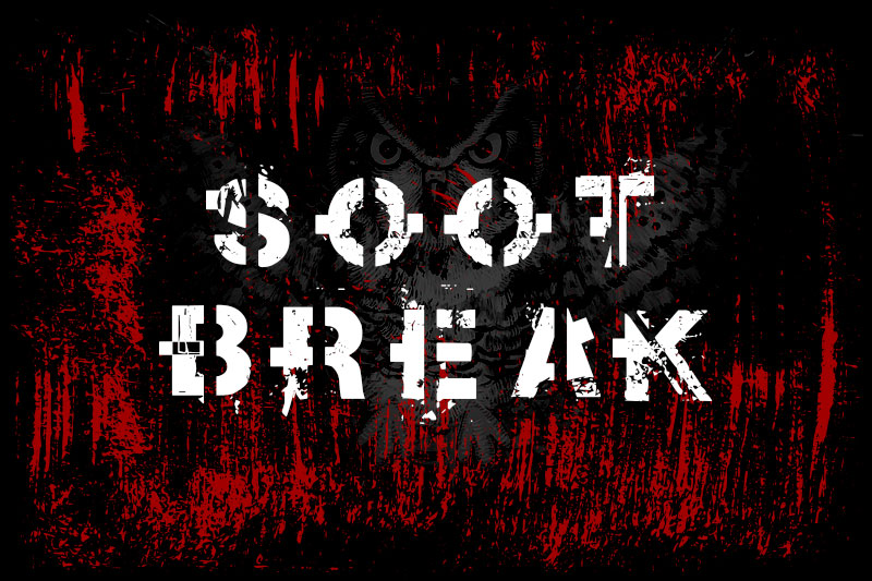 soot break horror and scary font