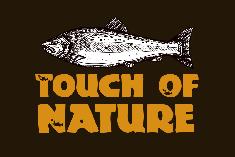 touch of nature fishing font