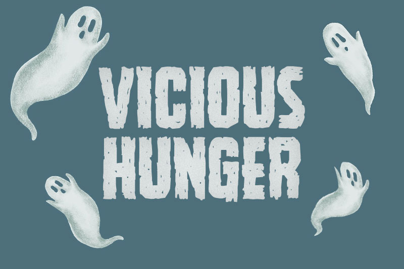 vicious hunger horror and scary font