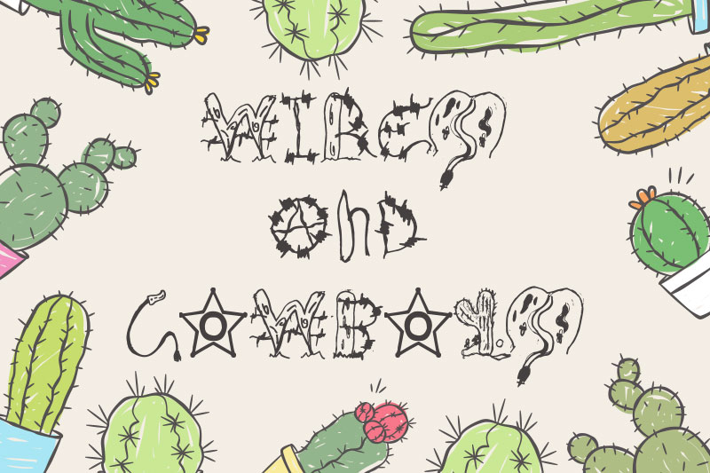 wires and cowboys cactus font