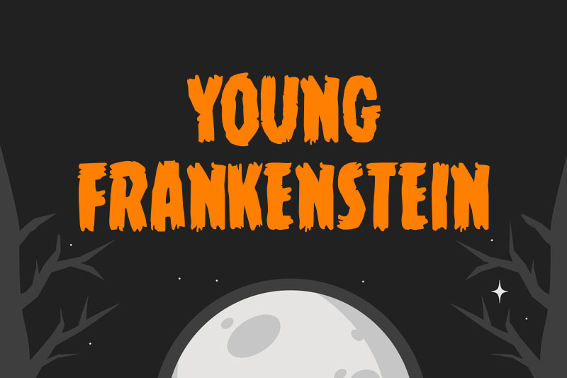 young frankenstein horror and scary font