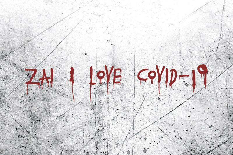 zai i love covid 19 horror and scary font
