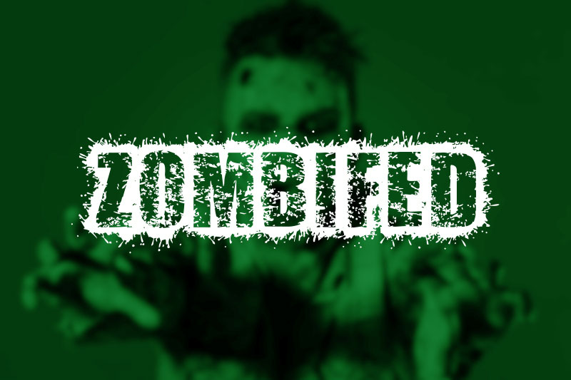 zombified horror and scary font