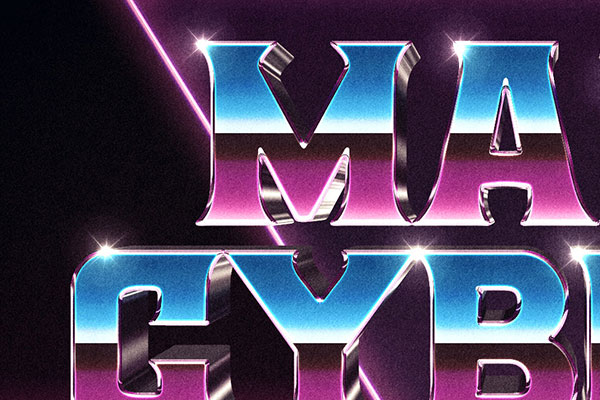 3D 80s Text and Logo Effect Vol.3