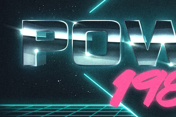 80s Cyberspace Text and Logo Effect Vol.2