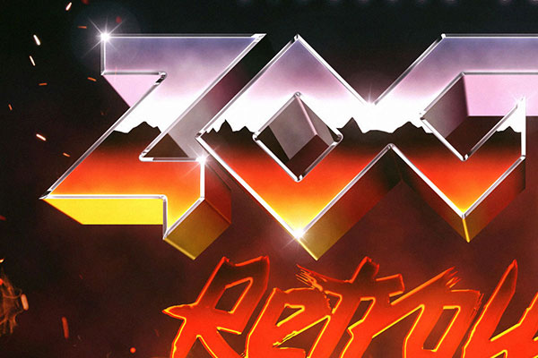 80s Fire Text and Logo Effect
