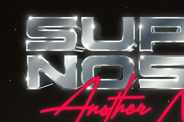 80s Metallic Text and Logo Style Vol.2