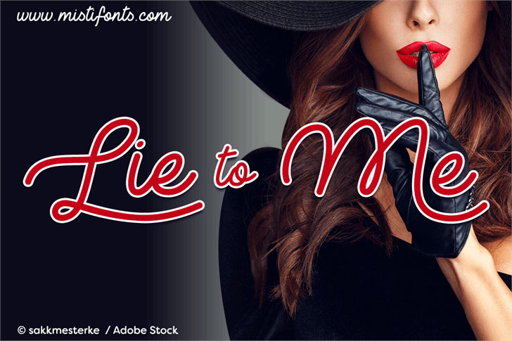 lie to me neon font