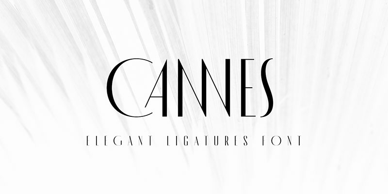made cannes 1920 font